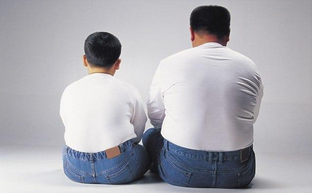 Obezite; babadan oğula...